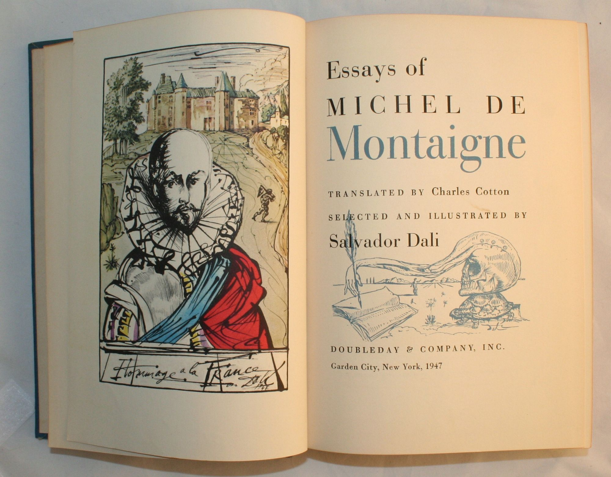 essays of michel de montaigne illustrated by salvador dali 1947 Buy essays of michel de montaigne [translated by charles cotton] selected and illustrated by salvador dali by michel de (1533-1592) dal, salvador (1904-1989) montaigne (isbn: ) from.