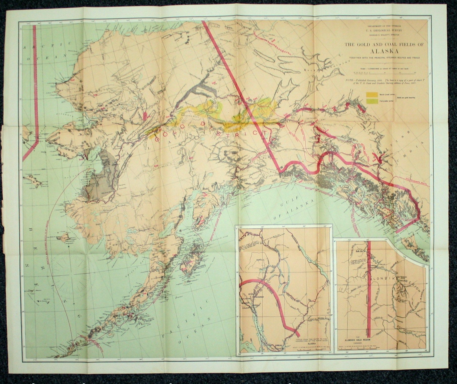 Map of Alaska Showing Known Gold-Bearing Rocks With Descriptive Text Known Gold Deposits Us Map on known gold deposits in michigan, liberia location on map, known gold mines in world map, natural oil deposits us map, kiev map, iron ore deposits us map, gem deposits us map, low temperature us map, us rail map, alaska gold deposits map, cool us map, united states coal map, aluminum mines united states map, natural gas deposits us map, iron mines world map, karst topography us map, kalahari desert map,
