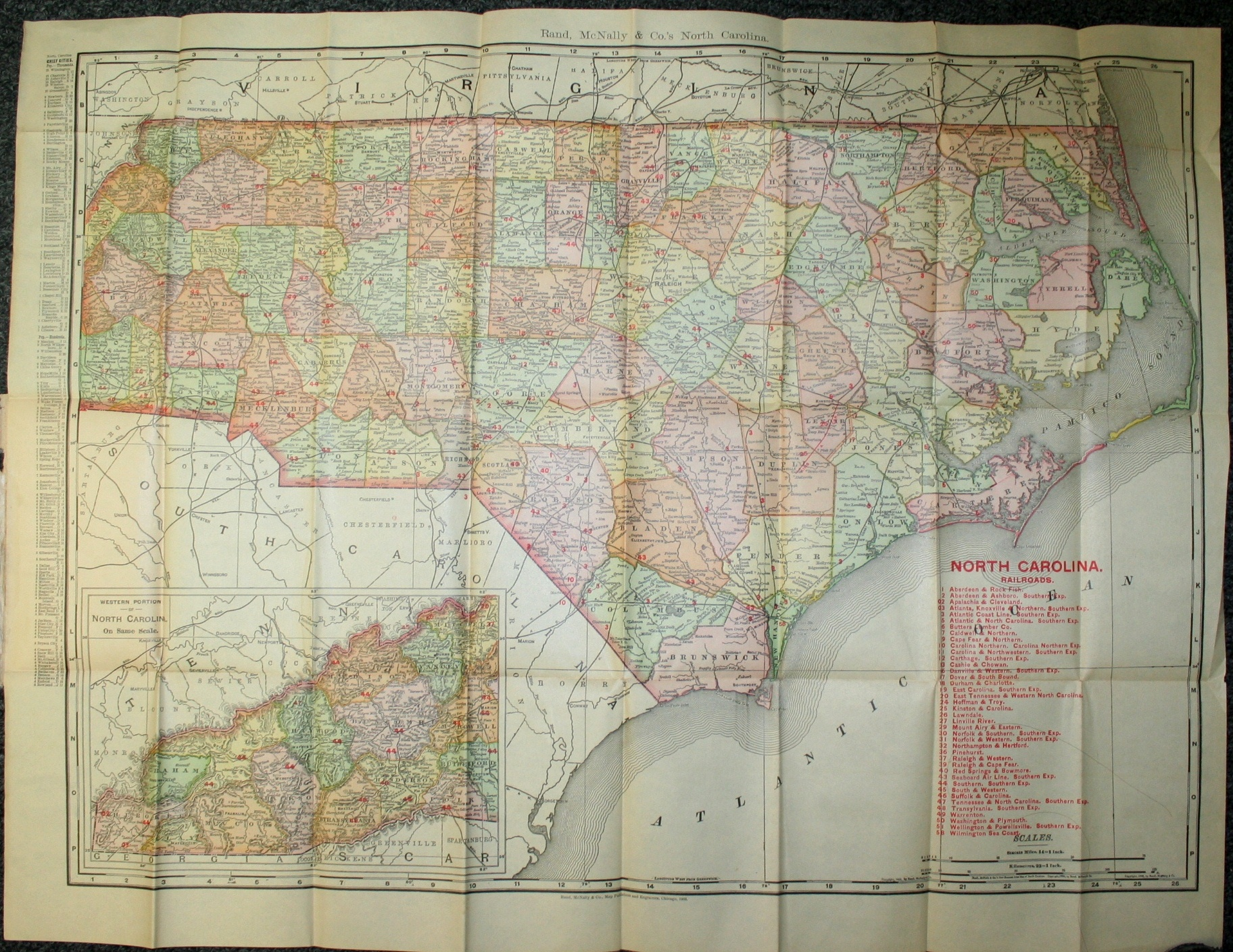 Rand mcnally cos indexed county and railroad map and shippers s indexed county and railroad map and shippers guide publicscrutiny Gallery