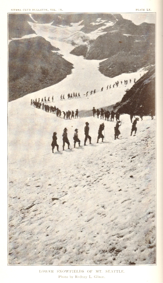 """""""Through the Olympics with the Mountaineers,"""" in Sierra Club Bulletin Vol, IX, No. 3, January 1914. OLYMPIC, YOSEMITE, Marion Randall Parsons, Joseph N. LeConte."""