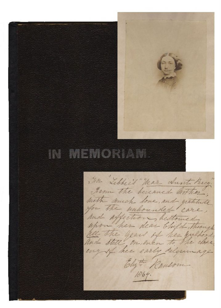 A Brief Sketch in Memory of a Young Mother, Dedicated to Her Beloved Little Boys. MOURNING LITERATURE, Elizabeth Ransom.