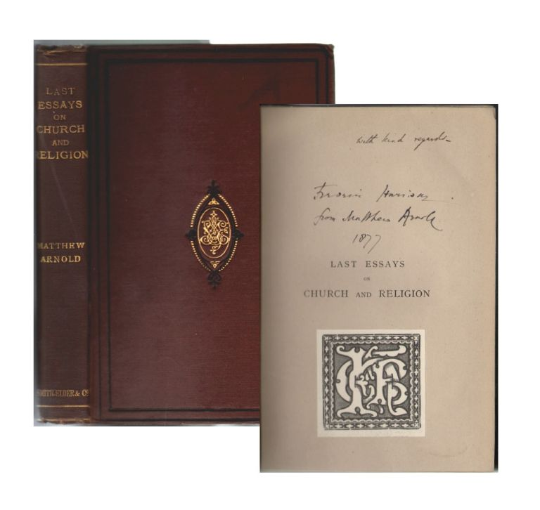 Last Essays on Church and Religion [ASSOCIATION COPY]. Matthew Arnold.