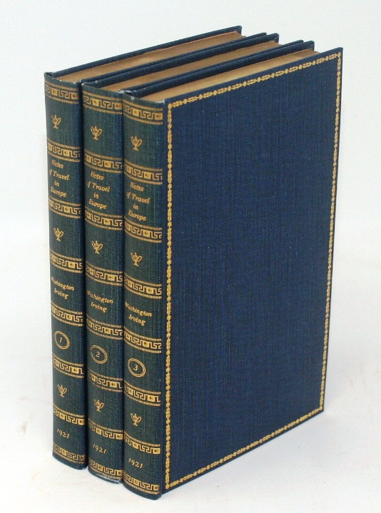 Notes and Journal of Travel in Europe 1804-05. Washington Irving.