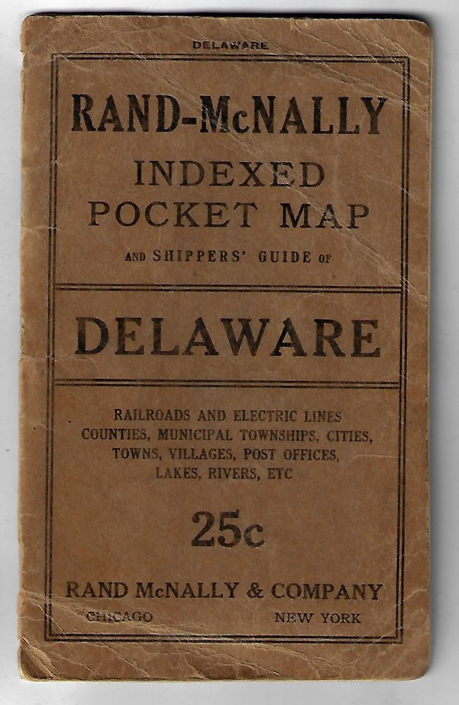 Rand McNally Indexed County Pocket Map and Shippers' Guide of Delaware.