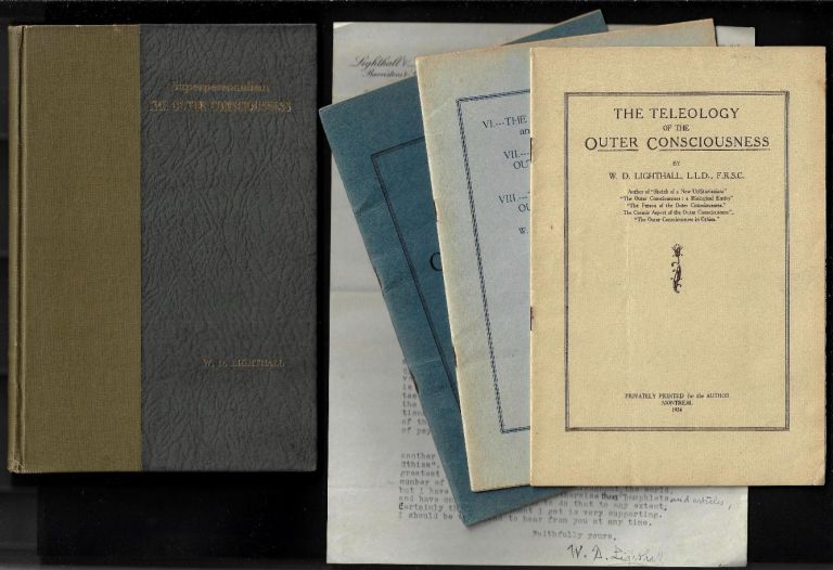 """Small Archive of Materials Relating to Philosopher W.D. Lighthall's Concepts of """"Superpersonalism"""" and """"The Outer Consciousness"""" W. D. Lighthall."""