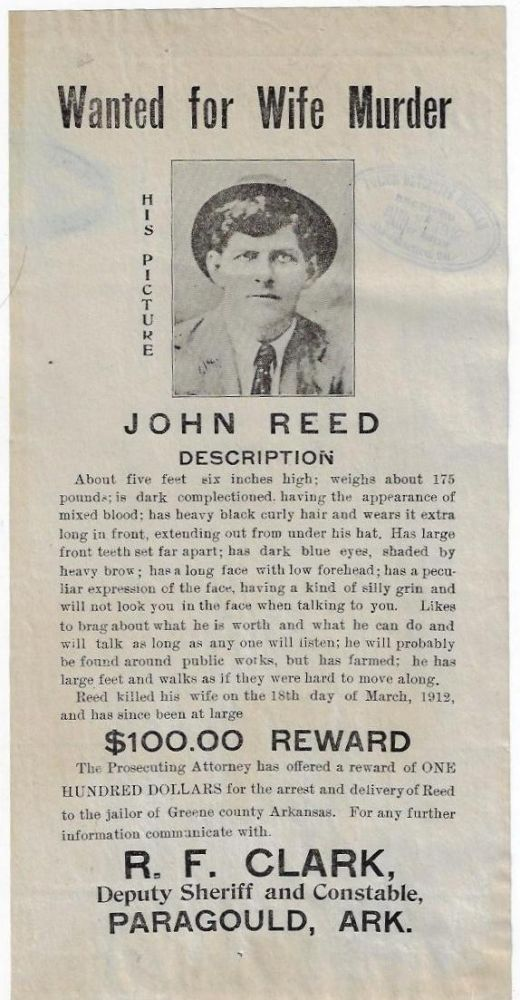 Wanted for Wife Murder, John Reed