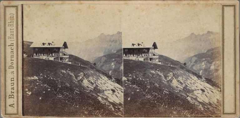 Group of Early Stereoviews of the Alps by French Photographer Adolphe Braun. ALPS.