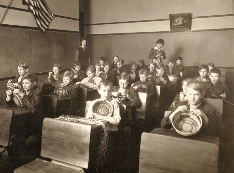 Photographic Archive Documenting Industrial Training in Coffeyville, Kansas, Schools, ca. 1915. EDUCATION KANSAS.