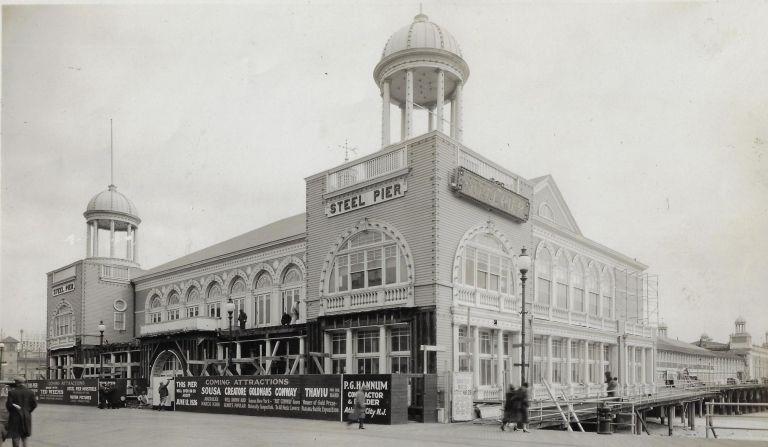Archive of Photographs Documenting Renovation and Design Work on Steel Pier, One of Atlantic City's Most Popular Entertainment Destinations, in 1926. ATLANTIC CITY.