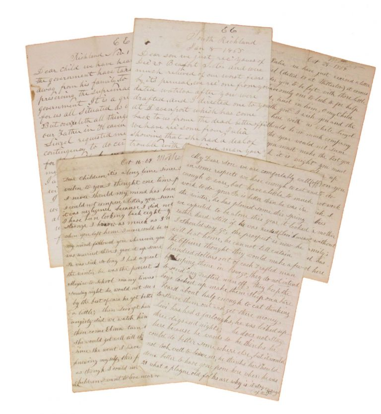 Small Archive of Letters to a Soldier in the 15th Iowa Volunteer Infantry, 1864-1865. CIVIL WAR.