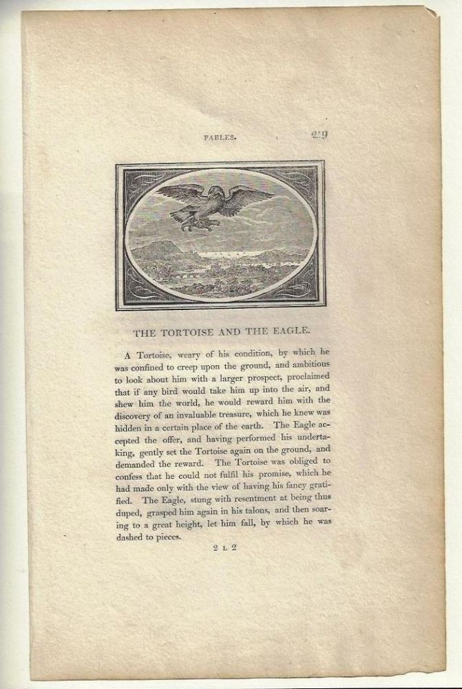 Thomas Bewick and the Fables of Aesop. With an Original Leaf from the First Edition (1818) of The Fables of Aesop and a New Impression from one of Bewick's Original Wood Engravings. John W. Borden, Janet S. Krueger.