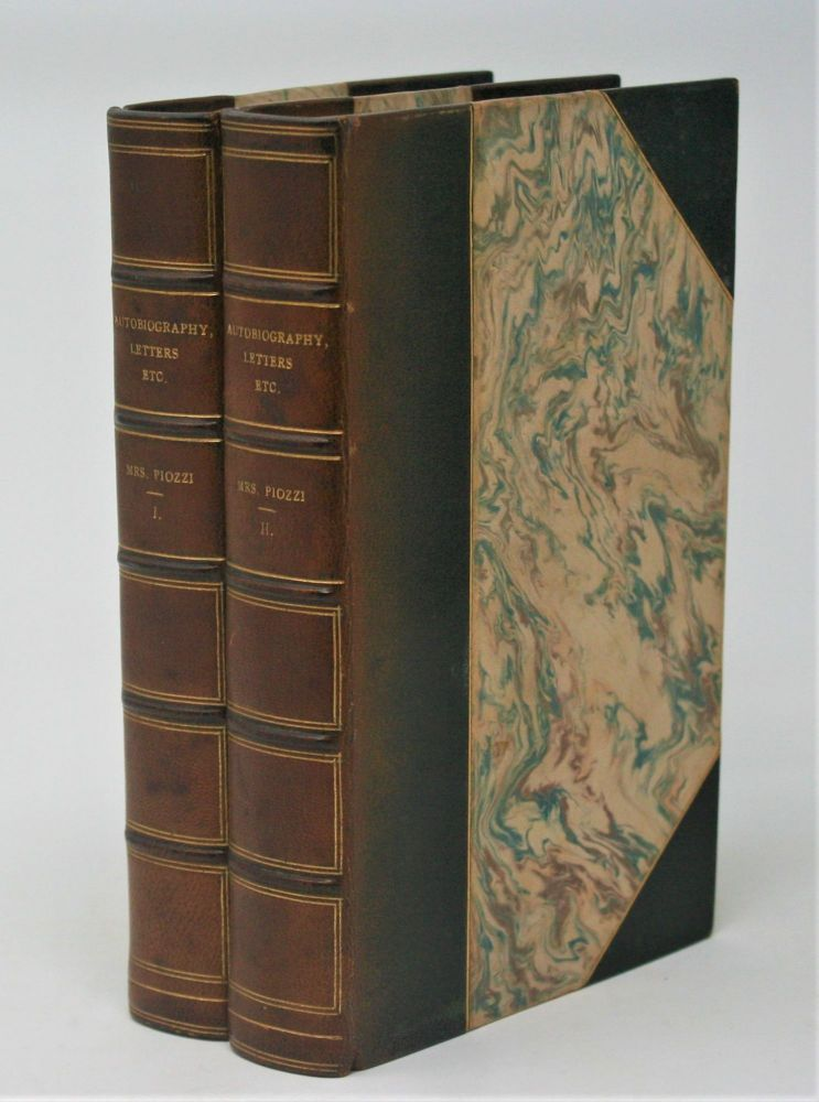 Autobiography Letters and Literary Remains of Mrs. Piozzi (Thrale), edited with Notes and an Introductory Account of her Life and Writings. A. Hayward, Piozzi, Hester Lynch Thrale.