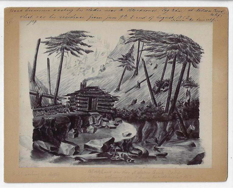 Ten Photographs of Original Artwork for the Gold Rush Narrative From East Prussia to the Golden Gate. Frank Lecouvreur.