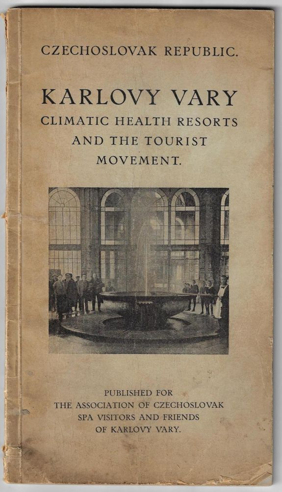 Karlovy Vary, Climatic Health Resorts and the Tourist Movement. CZECHOSLOVAKIA.