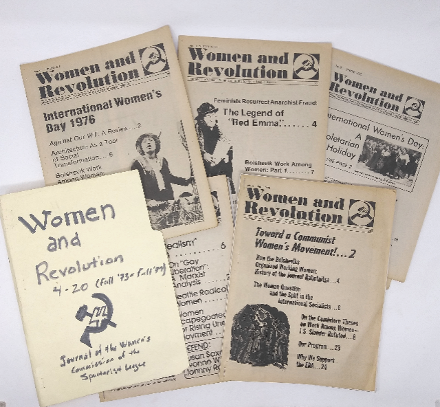 Women and Revolution, Journal of the Women's Commission of the Spartacist League – 17 consecutive issues, 1973-1980