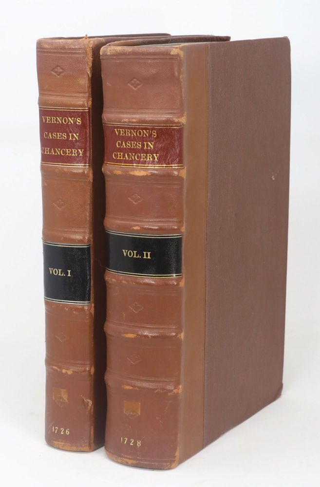 Cases Argued and Adjudged in the High Court of Chancery. Published from the Manuscripts of Thomas Vernon, Late of the Middle Temple, Esq.; by order of the High Court of Chancery [Two-Volume Set]. Thomas Vernon.