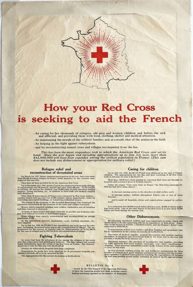 How Your Red Cross is Seeking to Aid the French. WORLD WAR I., RED CROSS.
