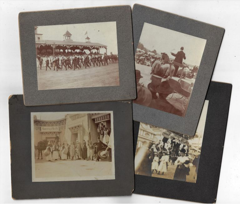 Four Original Photographs of Scenes at the Pan American Exposition in Buffalo, NY, 1901