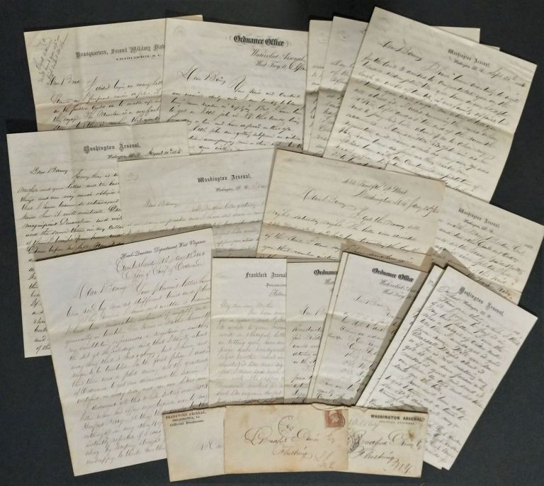 Fascinating Archive of Letters from Lieut. William Prince, U.S. Ordnance Corps, 1864-1872, Most Written from the Washington Arsenal During the Civil War. William Prince.
