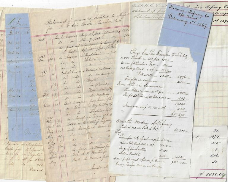 Small Financial Archive of the American-Owned Peruvian Petroleum & Refinery Company, 1868-1878