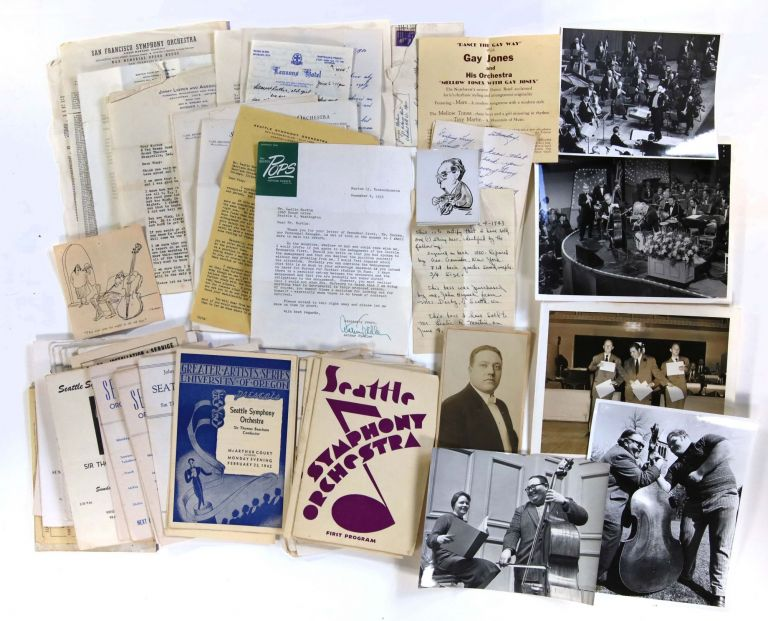 "Archive of Photographs, Correspondence, and Ephemera Relating to the Career of Double Bass Player Leslie ""Tiny"" Martin"