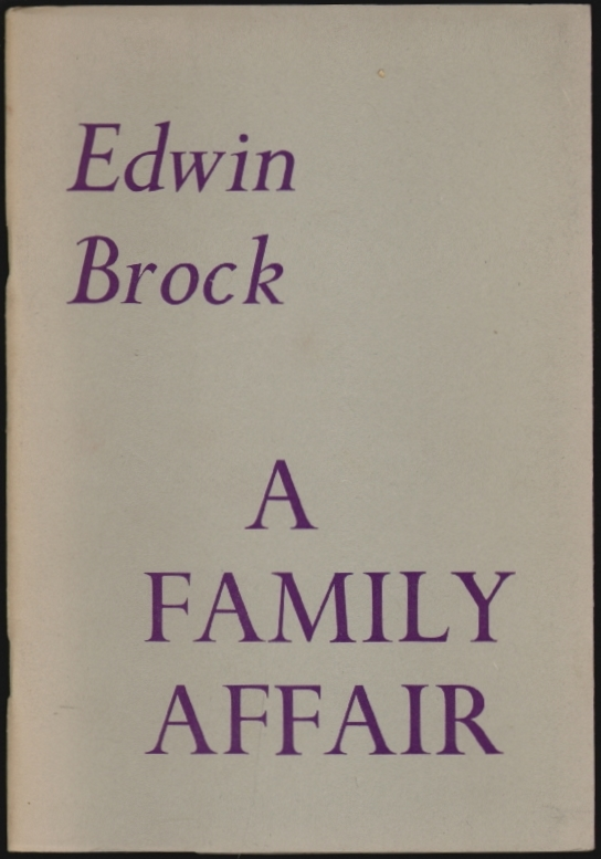 A Family Affair, Two Sonnet Sequences. Edwin Brock.