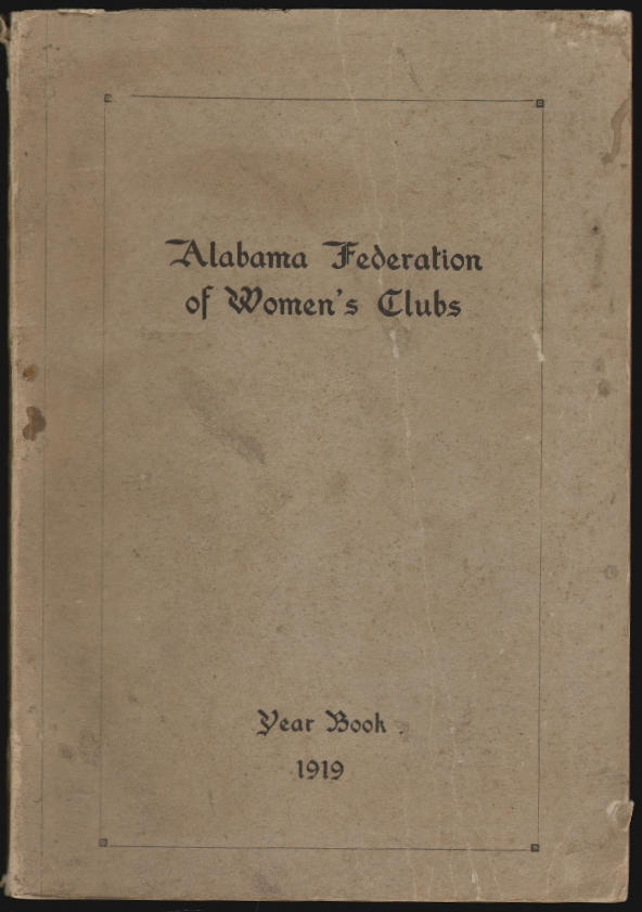 Alabama Federation of Women's Clubs Year Book 1919