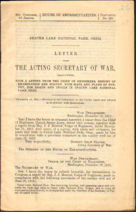 Letter from the Acting Secretary of War, Transmitting [the] Report of Examination and Survey,...