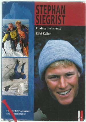 Stephan Siegrist, Finding the Balance. Robi Koller