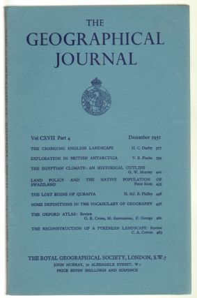 The Geographical Journal Volume CXVII, Part 4, December 1951. Royal Geographical Society