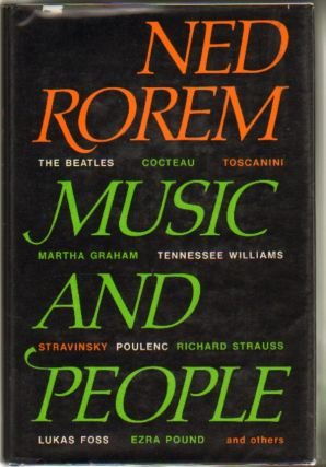 Music and People. Ned Rorem.