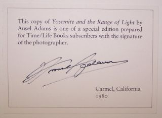 Yosemite and the Range of Light [SIGNED]