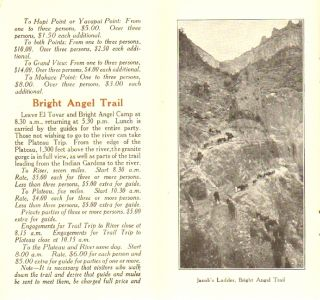 Trails, Drives and Saddle Horses, Grand Canyon