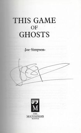 This Game of Ghosts [SIGNED]