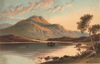 Souvenir of the Highlands: The Trossachs, Loch Katrine, and Loch Lomond, with Twenty-Four Chromo...