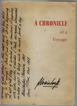 A Chronicle of a Voyage [with Prospectus]. Austryn Wainhouse
