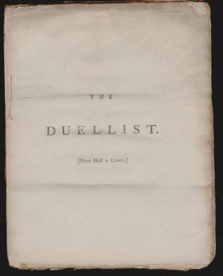 The Duellist. A Poem. In Three Books. Churchill, harles