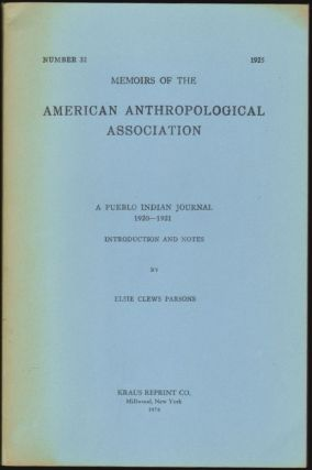 A Pueblo Indian Journal 1920-1921, Introduction and Notes (Memoirs of the American...
