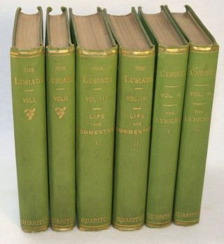 Os Lusiadas (The Lusiads) [with] Camoens: His Life and His Lusiads, A Commentary [with] Camoens: The Lyricks. Richard F. and Isabel Burton.