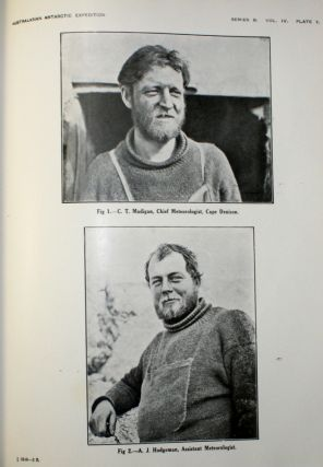 Australasian Antarctic Expedition 1911-14 under the Leadership of Sir Douglas Mawson: Scientific Reports [88 of 91 Parts]