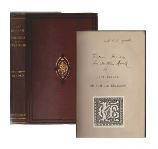 Last Essays on Church and Religion [ASSOCIATION COPY]. Matthew Arnold