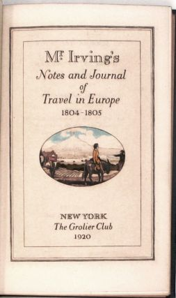Notes and Journal of Travel in Europe 1804-05