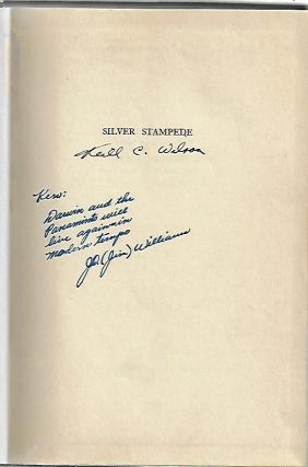 Silver Stampede, The Career of Death Valley's Hell-Camp, Old Panamint [SIGNED]
