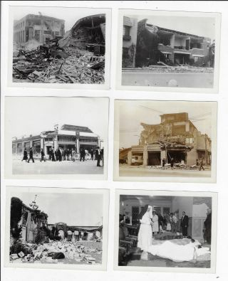 Collection of 18 Original Photographs of the Aftermath of the Long Beach, California Earthquake of 1933
