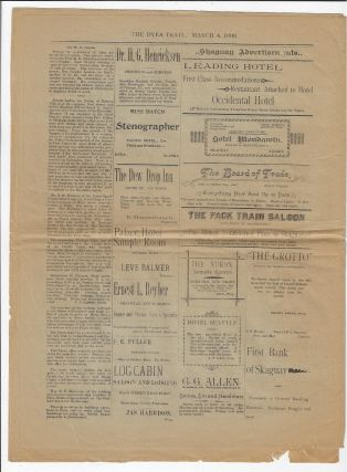 Three Issues of the Short-Lived Dyea Trail Newspaper, 1898