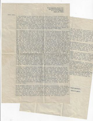 Original Letter from a Murderer to His Sister, Explaining Why He Killed Their Father. Enio Robert Mack.