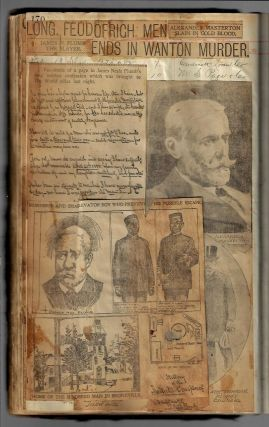 Scrapbook of More than 450 Newspaper Clippings on American Criminals and their Crimes, 1899-1902