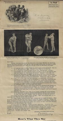 Mailer/Prospectus for the Marshall Stillman Method of Teaching Boxing and Self-Defense