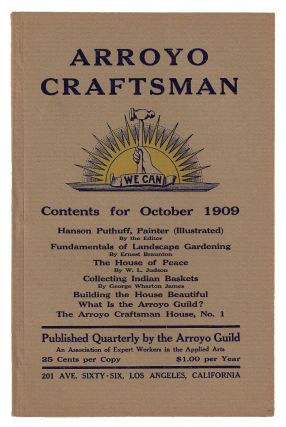 Arroyo Craftsman, Volume 1, Number 1. ARTS CALIFORNIA, CRAFTS MOVEMENT