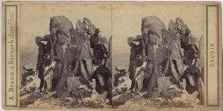 Group of Early Stereoviews of the Alps by French Photographer Adolphe Braun